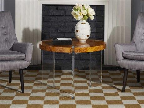 Jonathan Adler Bond Burled Mappa 28'' Wide Round Coffee Table