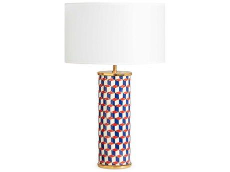 Jonathan Adler Carnaby Navy / Red Gold Buffet Lamp