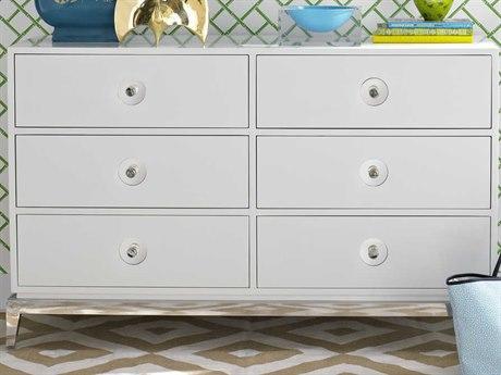 Jonathan Adler Channing White 6 Drawers Double Dresser JON7210