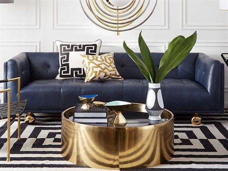 Jonathan Adler Claridge Brogue Navy Sofa Couch