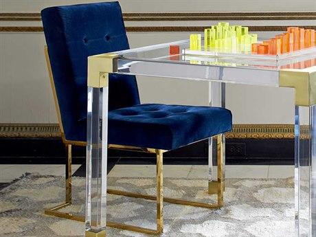Jonathan Adler Goldfinger Rialto Navy Side Dining Chair JON21191