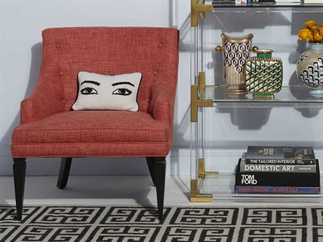 Jonathan Adler Haines Siam Coral Accent Chair