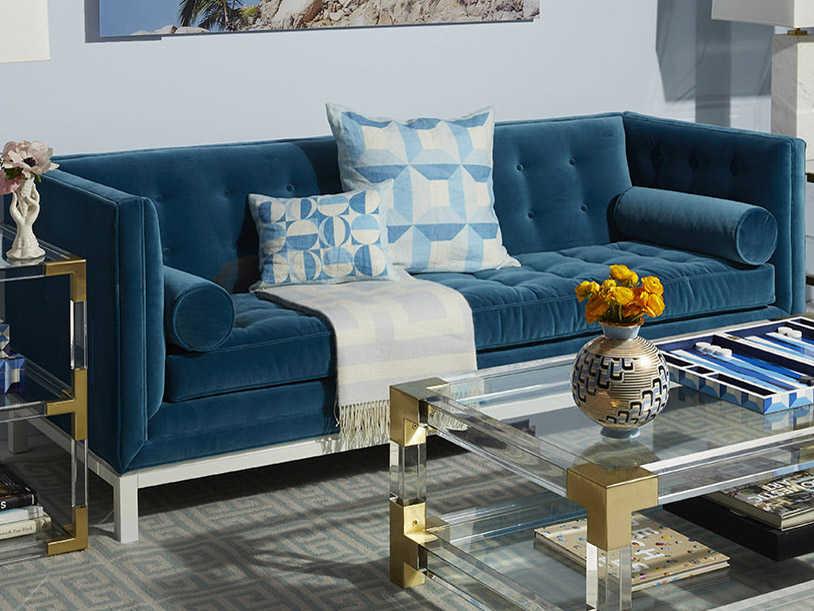 Jonathan Adler Lampert Venice Peacock Sofa Couch Jon20103