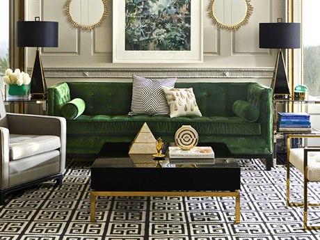 Jonathan Adler Lampert Venice Emerald Sofa Couch JON21320