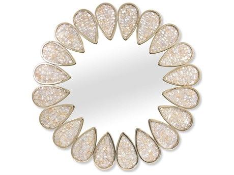 Jonathan Adler Petal Pearl / Brass Wall Mirror JON20044