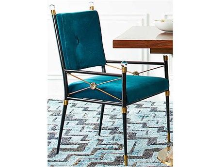 Jonathan Adler Rider Rialto Peacock Arm Dining Chair JON21925