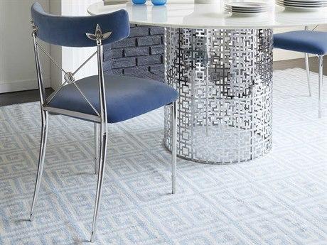 Jonathan Adler Rider Rialto Cobalt Side Dining Chair JON27703