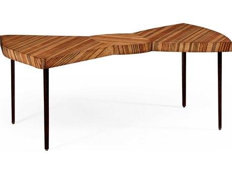 Jonathan Charles Alexander Julian Light Satinwood 48 x 27 Bowtie Coffee Table JC494786SAL