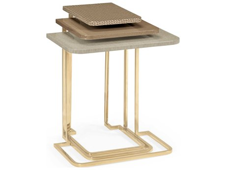 Jonathan Charles Ambiente collection Beige Fallingwater Nesting Tables JC495593BRM