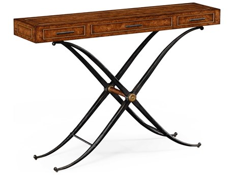 Jonathan Charles Anvil Medium Rustic Burr Oak 52 x 13.5 Rectangular Console Table