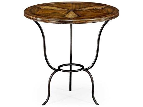 Jonathan Charles Anvil Medium Walnut 28 Round Pedestal Table