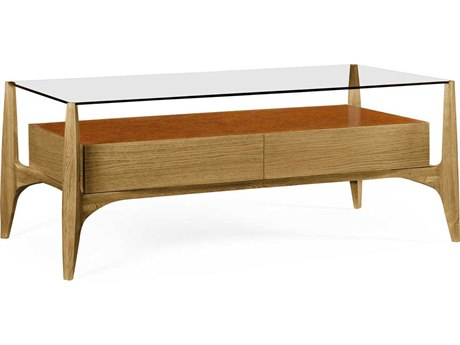 Jonathan Charles Architects House collection Light Washed Oak On Wood Coffee Table