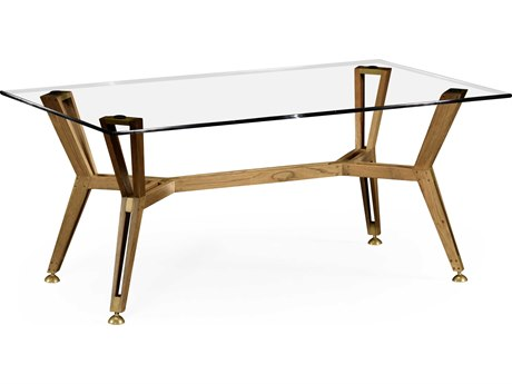 Jonathan Charles Architects House Light Washed Oak 48 x 28 Rectangular Coffee Table JC495077LWO