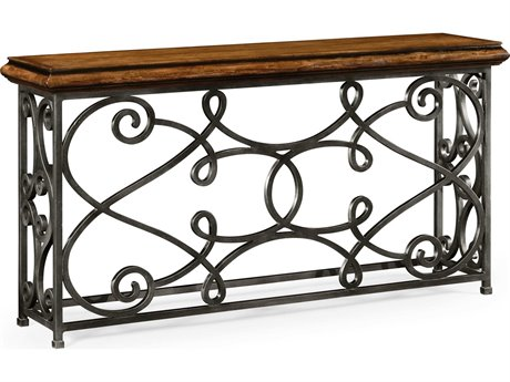 Jonathan Charles Artisan collection Rustic Walnut Finish Console Table JC49506472LRWL