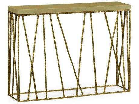 Jonathan Charles Artisan Light Brown Brass 48 x 12 Rectangular Console Table