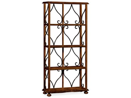 Jonathan Charles Artisan collection Rustic Walnut Finish Etagere JC495537RWL
