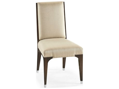 Jonathan Charles Belgravia Paloma Mazo Upholstered Dining Side Chair with Stainless Steel Detailing