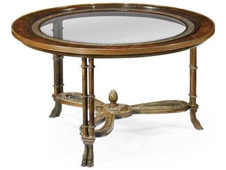 Jonathan Charles Buckingham Medium Antique Mahogany 34.5 Round Coffee Table