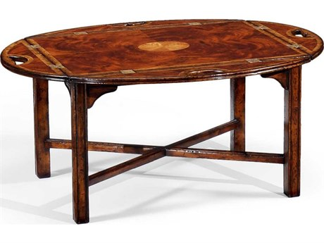 Jonathan Charles Buckingham Medium Antique Mahogany 40 x 31 Oval Coffee Table JC492724MAH