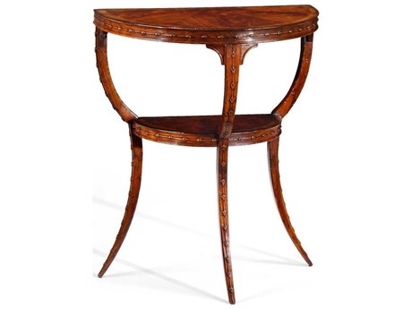 Jonathan Charles Buckingham Medium Antique Mahogany 24 x 14 Demilune Console Table JC492793MAH