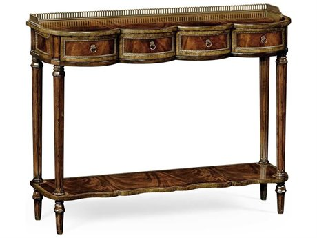 Jonathan Charles Buckingham Medium Antique Mahogany 49 x 16.5 Rectangular Console Table