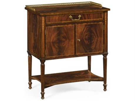 Jonathan Charles Buckingham Medium Antique Mahogany 30 x 18.75 Rectangular Console Table