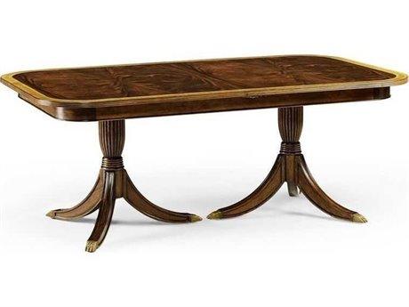 Jonathan Charles Buckingham Medium Antique Mahogany 75.5 x 46 Rectangular Dining Table