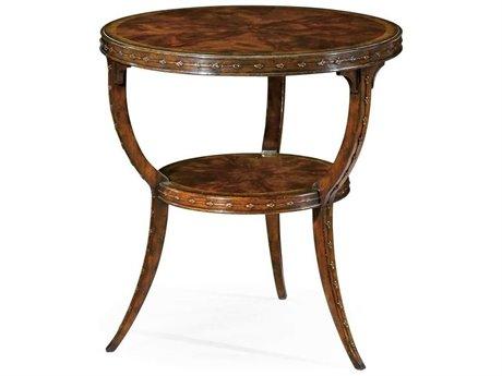 Jonathan Charles Buckingham Medium Antique Mahogany 24 Round End Table