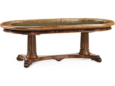 Jonathan Charles Buckingham Medium Antique Mahogany 94 x 49.5 Rectangular Poker Table JC493199MAH