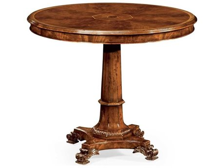 Jonathan Charles Buckingham Medium Antique Mahogany 36 Octagon Pedestal Table