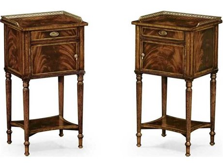 Jonathan Charles Buckingham Light Walnut Bedside Cabinet (Sold As A Pair)