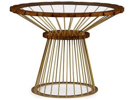 Jonathan Charles Camden Collection Faux Light Antique Brass Foyer Table JC495401FLB