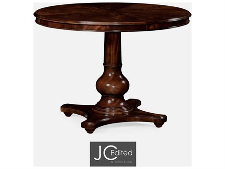 Jonathan Charles JC Edited - Classically Formal Antique Mahogany Medium Casual Dining Table JC49103042DMAH