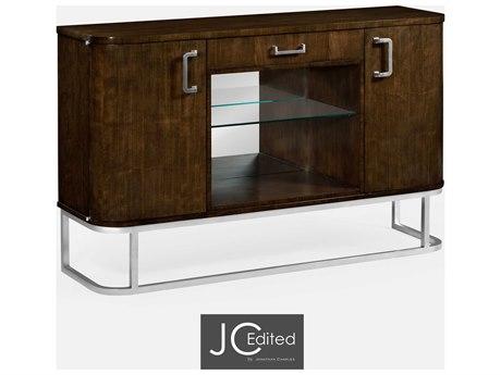 Jonathan Charles JC Edited - Comfortably Modern American Walnut On Veneer Buffet JC491121AMW