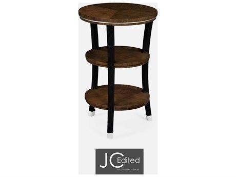 Jonathan Charles JC Edited - Comfortably Modern American Walnut On Veneer End Table