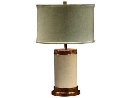 Jonathan Charles Cosmo Ivory Homespun Table Lamp