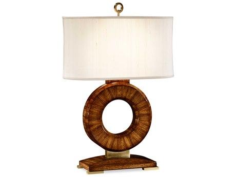 Jonathan Charles Cosmo Medium Zebrano Table Lamp