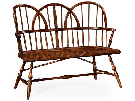 Jonathan Charles Country Farmhouse Medium Walnut Accent Bench