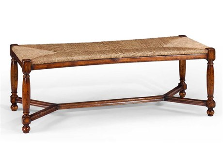 Jonathan Charles Country Farmhouse Medium Walnut Accent Bench JC492759WAL
