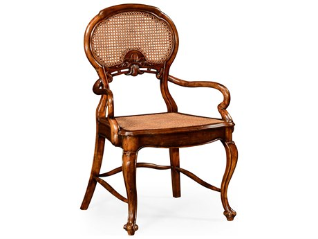 Jonathan Charles Country Farmhouse Medium Walnut Accent Chair JC492276ACWAL