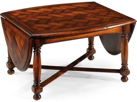 Jonathan Charles Country Farmhouse Medium Walnut 59.75 x 30 Oval Coffee Table