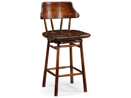 Jonathan Charles Country Farmhouse Medium Walnut Counter Stool