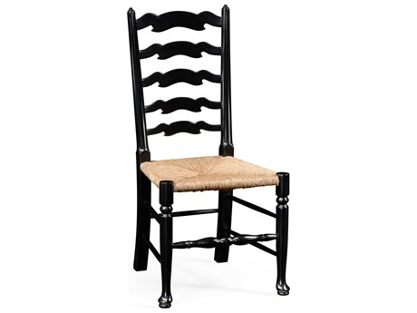 Jonathan Charles Country Farmhouse Painted Formal Black Dining Chair