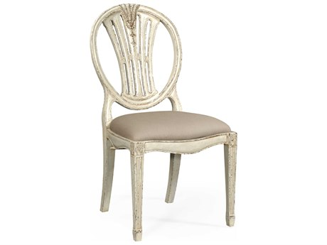 Jonathan Charles Country Farmhouse Painted Off-White Dining Chair