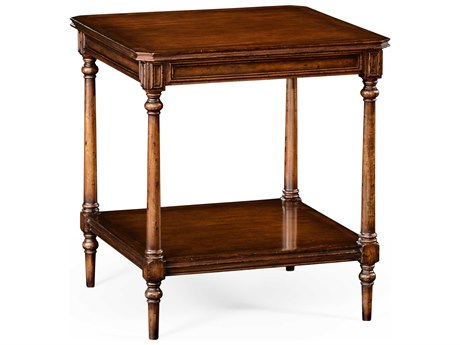Jonathan Charles Country Farmhouse Medium Walnut 24 Square End Table