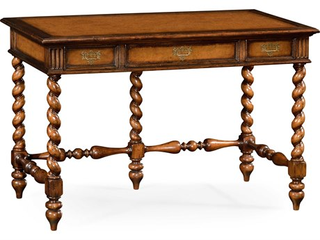 Jonathan Charles Country Farmhouse Medium Walnut Executive Desk