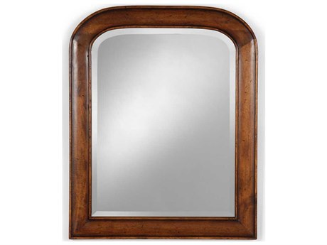 Jonathan Charles Country Farmhouse 25 x 31 Medium Walnut Wall Mirror