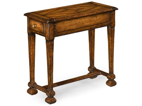 Jonathan Charles Huntingdon Medium Figured Walnut 26.75 x 13 Rectangular End Table