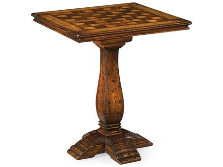 Jonathan Charles Huntingdon Medium Figured Walnut 24 Square Game Table JC493450MFW