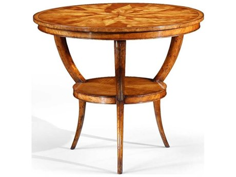 Jonathan Charles Luxe Light Walnut 33.75 Rectangular Coffee Table